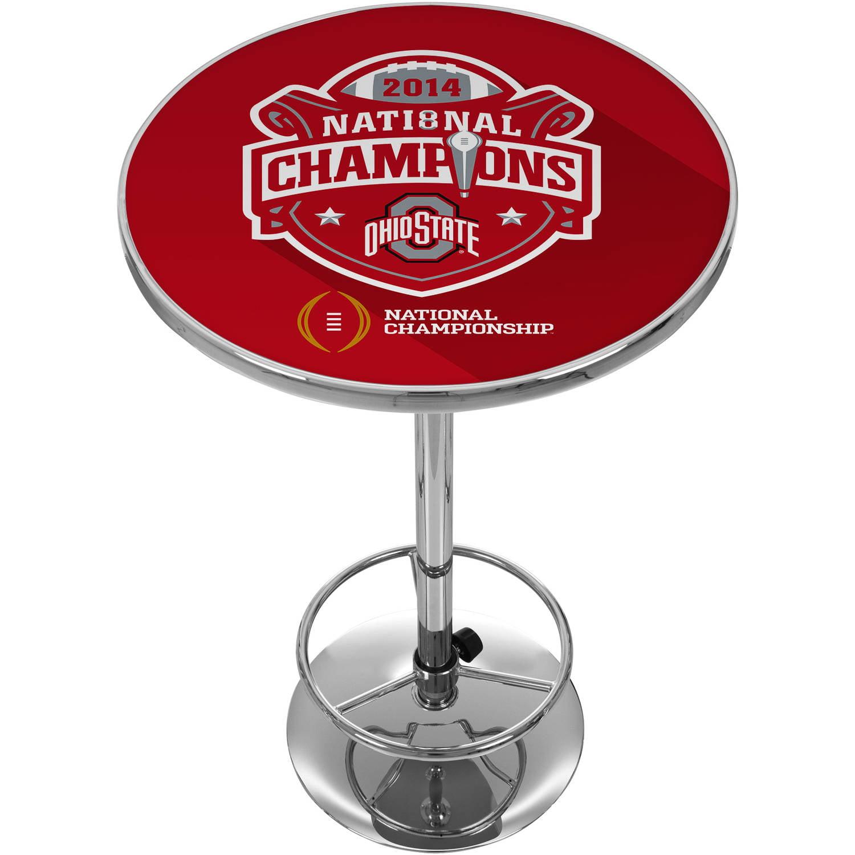 Ohio State University National Champions Chrome Pub Table