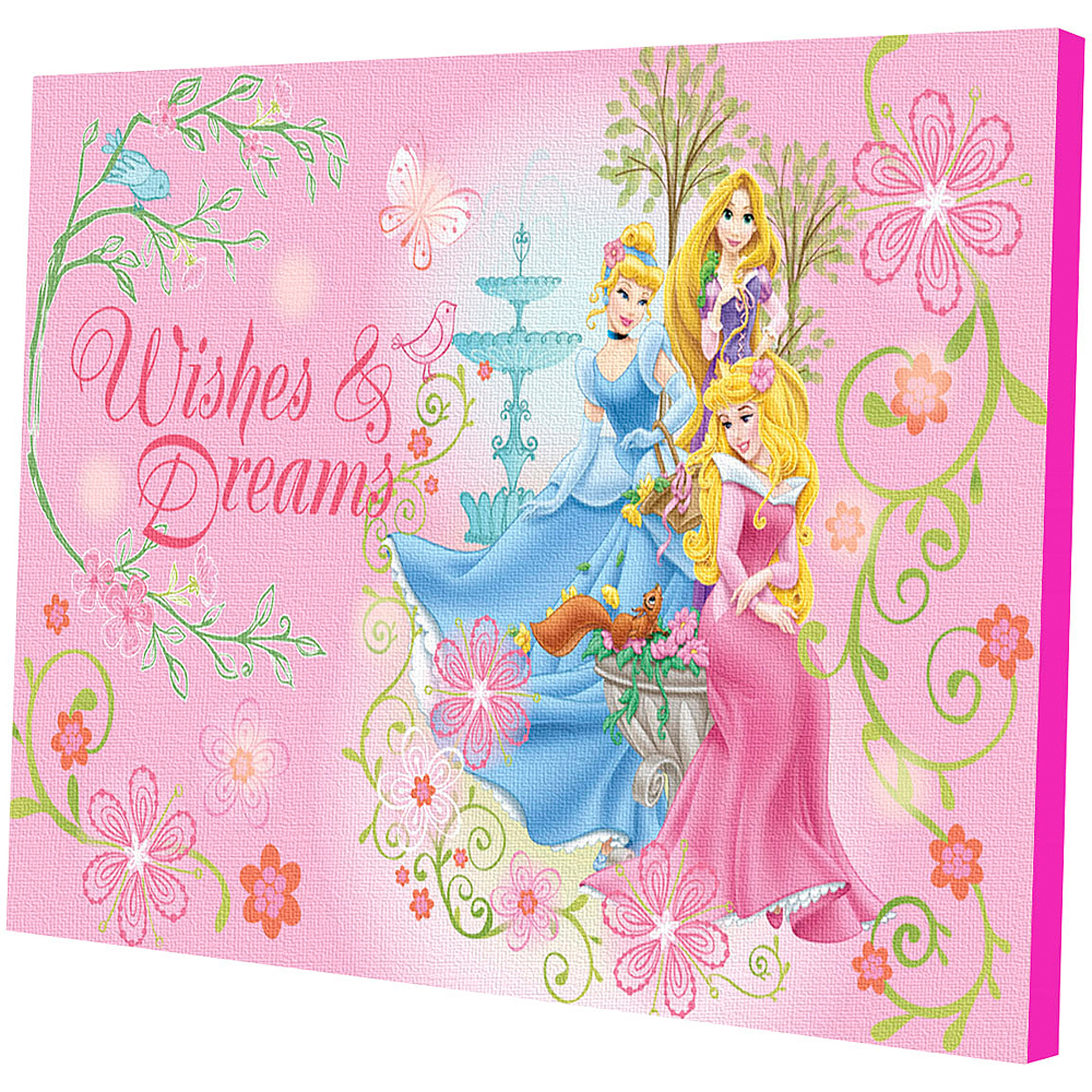 Disney Princess LED Light Up Canvas Wall Art