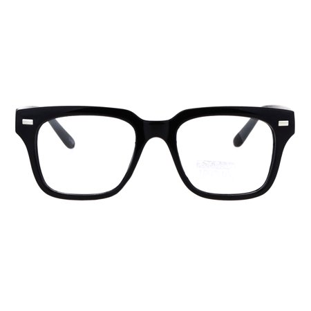 Mens Luxury Designer Horned Rim Hipster Nerdy Clear Lens Eye Glasses (Clear Lens Hipster Glasses)