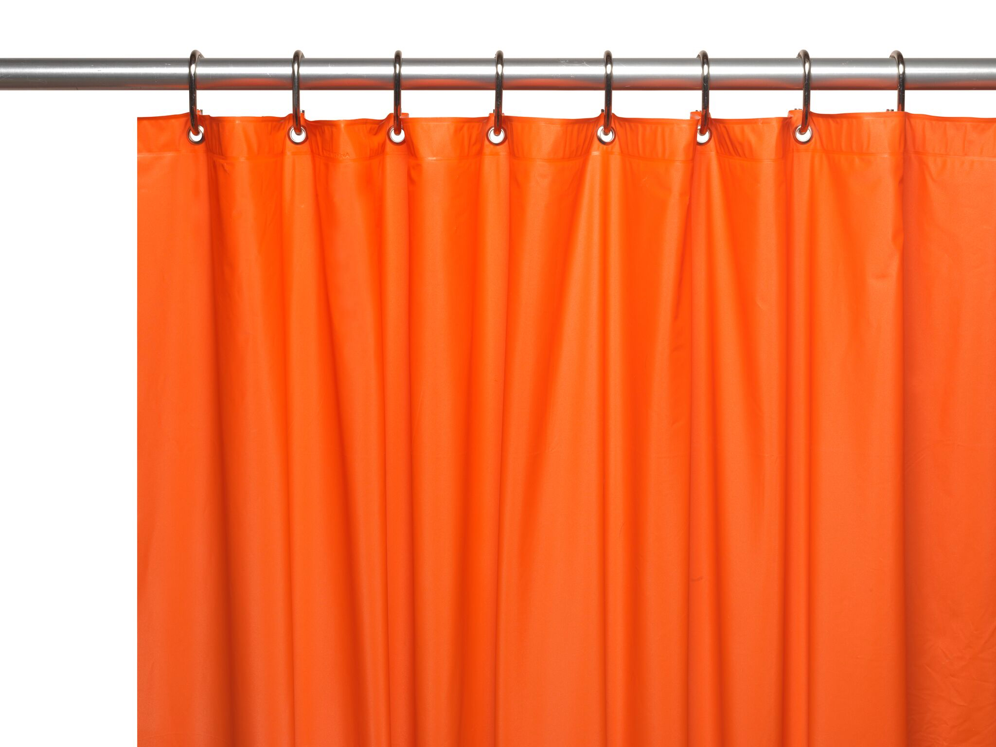 Hotel Collection Premium Heavy Duty Vinyl Shower Curtain Liner With Metal  Grommets   Orange