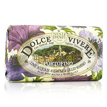 Dolce Vivere Fine Natural Soap - Portofino - Flax  Rose Water & Marine Lily 8.8oz