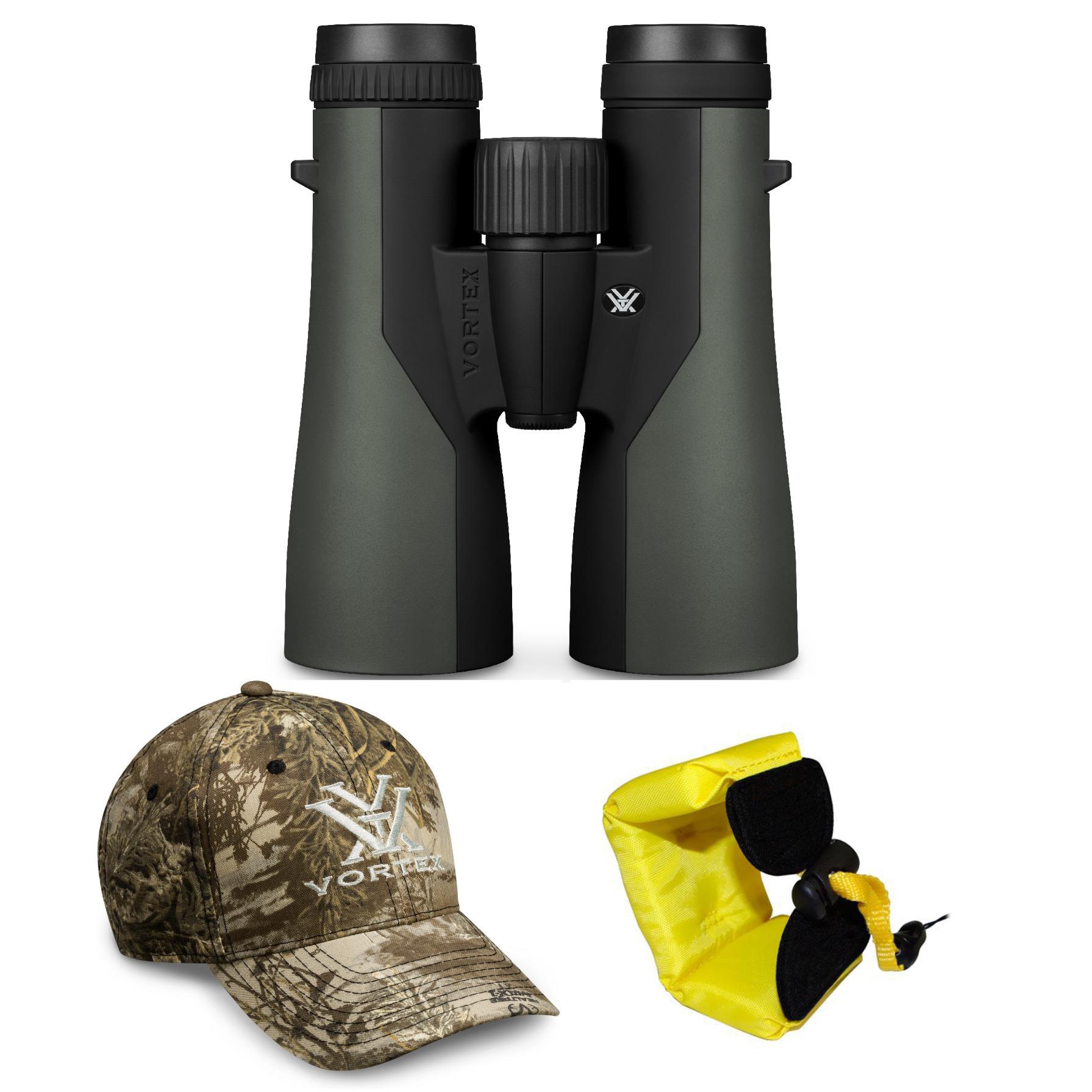 Vortex Optics Crossfire 10x50 Roof Prism Binoculars with Camera Strap Bundle