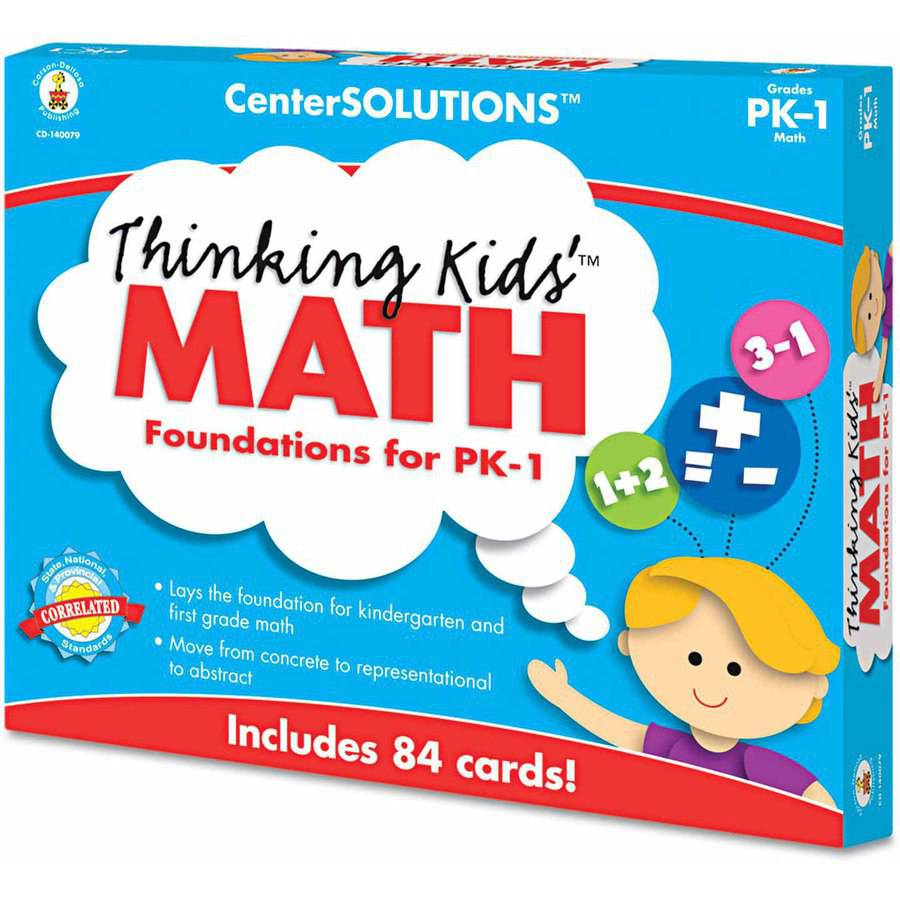 Carson-Dellosa Publishing CenterSOLUTIONS Thinking Kids Math Cards, Pre-K and Grade 1 Level