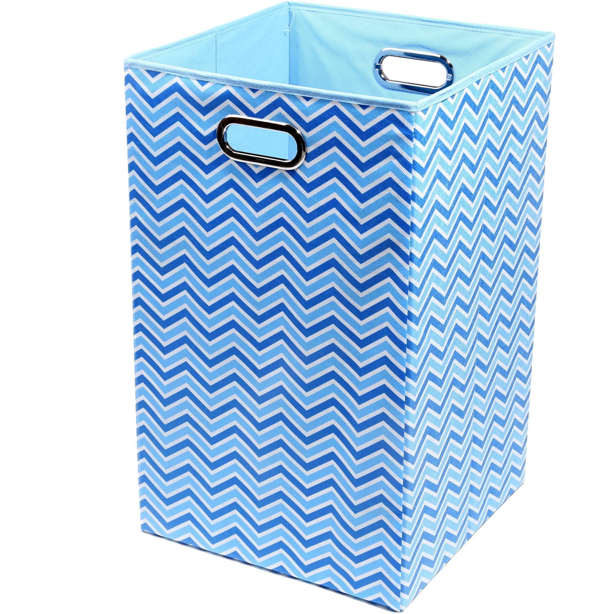 Modern Littles Sky Canvas Folding Laundry Basket (Choose Your Pattern)