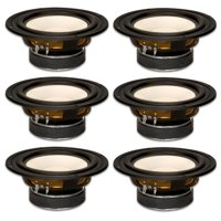 "6 Goldwood Sound GW-S650/4 Poly Cone 6.5"" Woofers 170 Watts each 4ohm Replacement Speakers"