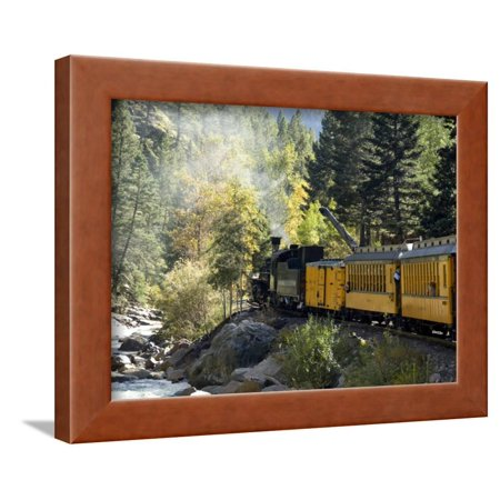 The Narrow Gauge (The Durango & Silverton Narrow Gauge Railroad, Colorado, USA Framed Print Wall Art By Cindy Miller Hopkins)