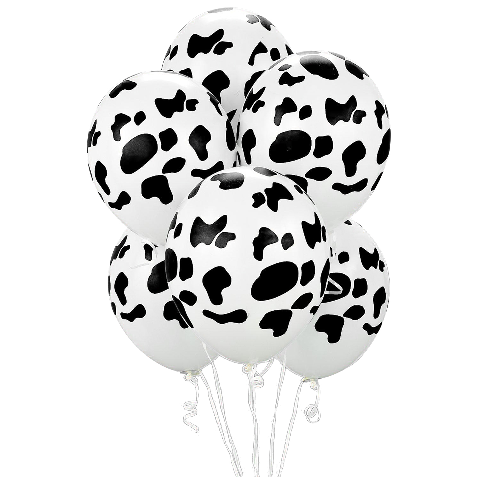 "Cow Print 11"" Latex Balloons (50 Pack) - Party Supplies"