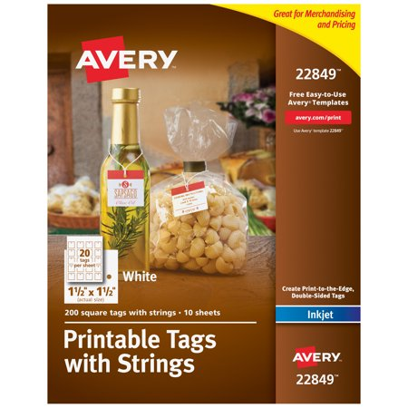 Avery(R) Printable Tags with Strings, 1-1/2