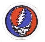 """GDP Inc - GRATEFUL DEAD Mini Steal Your Face Lightening Embroidered Patch - 1.75"""""""