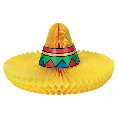Sombrero Honeycomb Centerpiece - Sombrero Party
