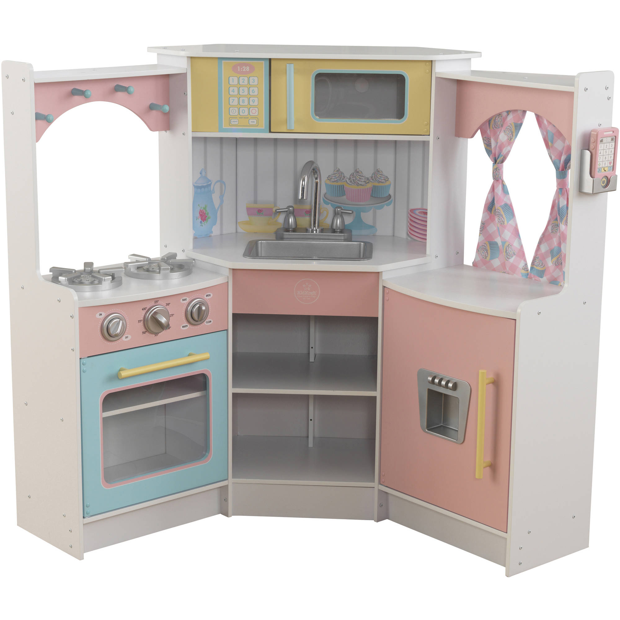 Kidkraft Kitchen White kidkraft deluxe corner play kitchen - walmart