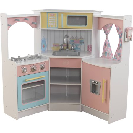 Kidkraft deluxe corner play kitchen for Cuisine janod macaron