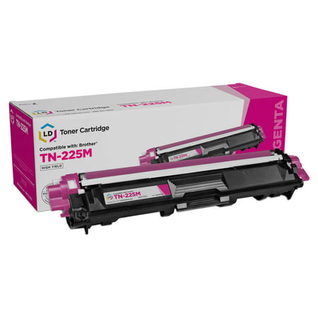 LD © Compatible Replacement for Brother TN225M High Yield Magenta Laser Toner Cartridge for use in Brother HL-3140CW, HL-3170CDW, MFC-9130CW, MFC-9330CDW, and MFC-9340CDW Printers