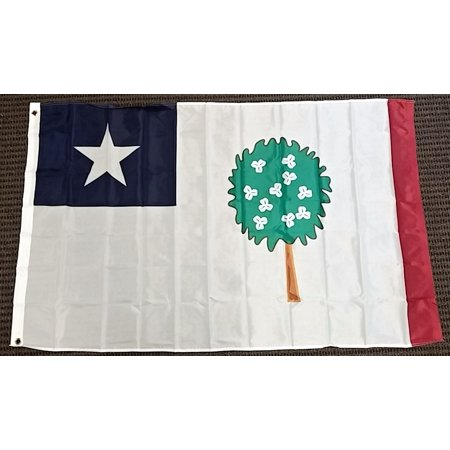 Mississippi Republic with Magnolia Polyester 3x5 Foot Flag US Historical Banner - Mississippi State Flower Magnolia