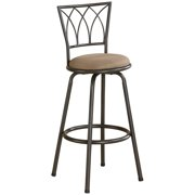 """Bowery Hill 29"""" Metal Casual Swivel Bar Stool in Brown and Bronze"""