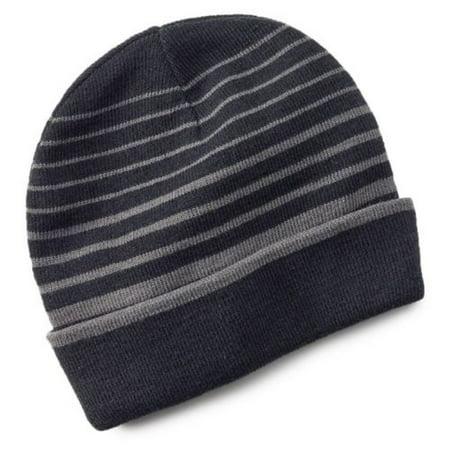 Tek Gear - Tek Gear Warmtek Striped Reversible Knit Beanie Hat Men One Size  - Walmart.com 91a73f23e5a7