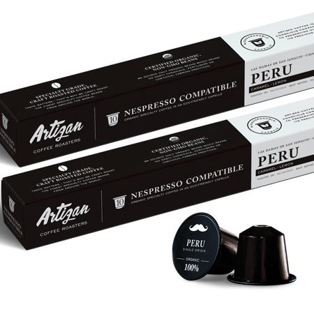 100% USDA Organic Certified Coffee, Compostable Bio-Degradable, Peru Single Origin Dark Roast, Roasted in Miami FL (2 pack)