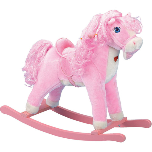 Pink Horse Rocker with Light Up Pink Heart