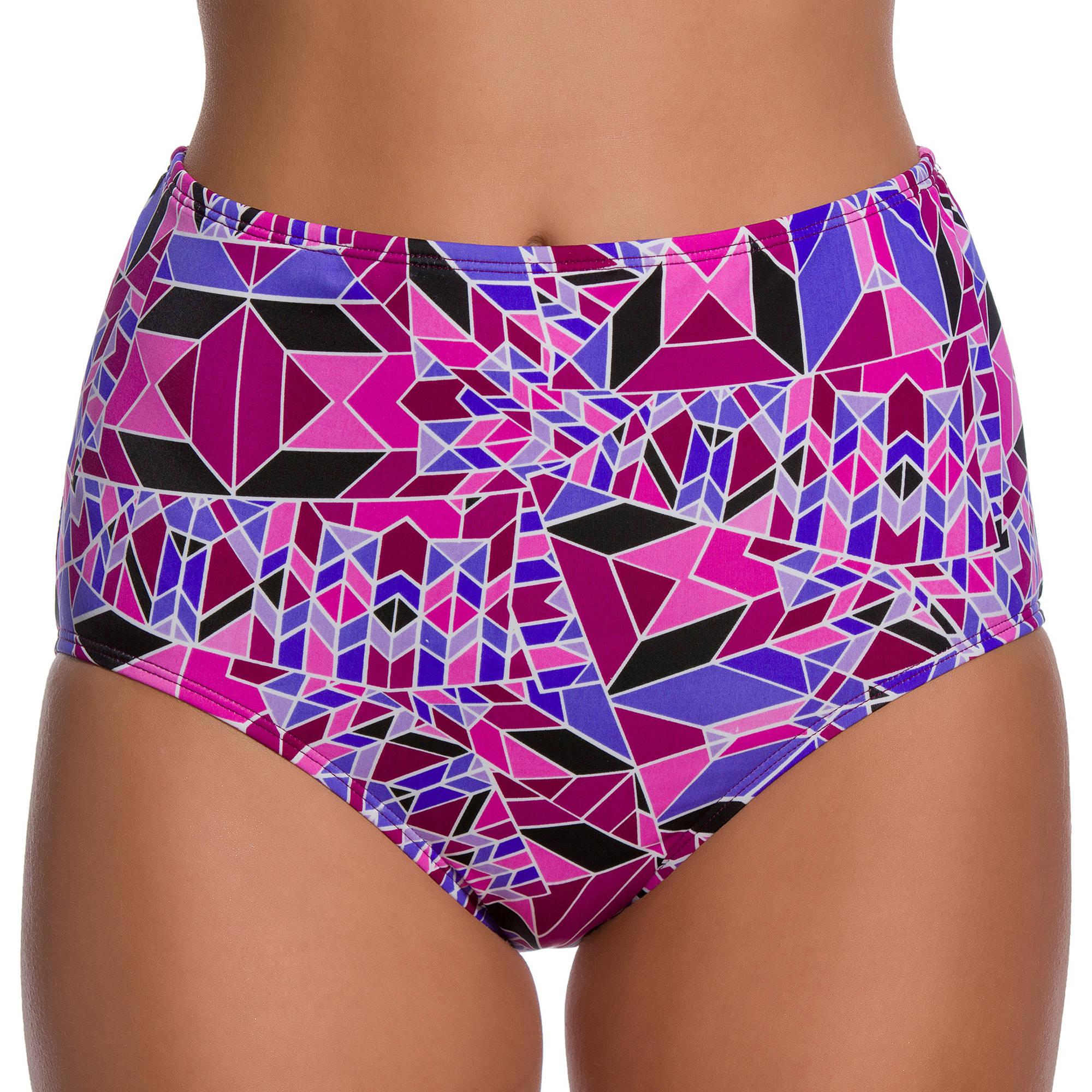 Image of 100 Degrees Women's Fragments High-Waisted Bikini Bottom