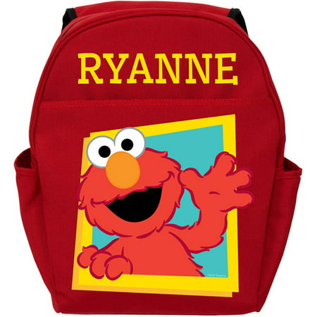 Elmo Bags (Personalized Sesame Street Red Toddler Backpack - Hello)