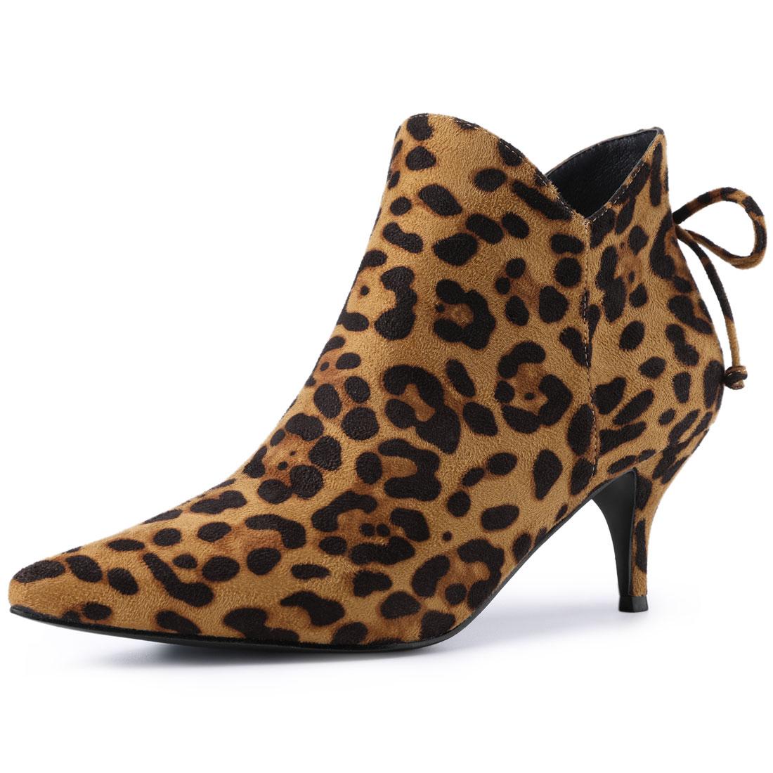 Women's Pointed Toe Kitten Heel Ankle