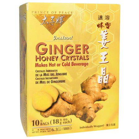 Prince of Peace, Instant Ginger Honey Crystals, 10 Bags, (18 g) Each(pack of 4)