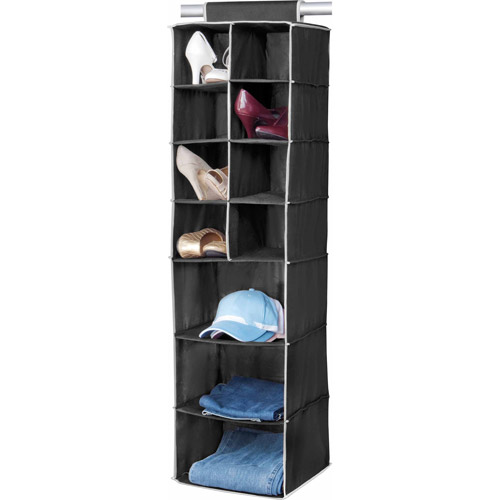 Simplify 8-Pocket Shoe and 3-Shelf Organizer