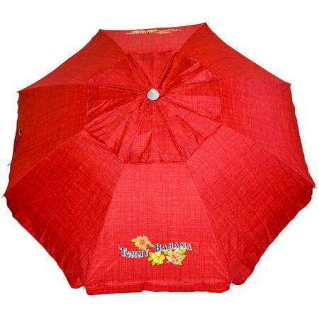 Tommy Bahama Sand Anchor 7 feet Beach Umbrella with Tilt and Telescoping Pole (Apple Red) ()