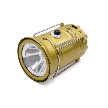 Cylinder Shape Solar USB Charge Portable White Light Camping  Lamp for Car