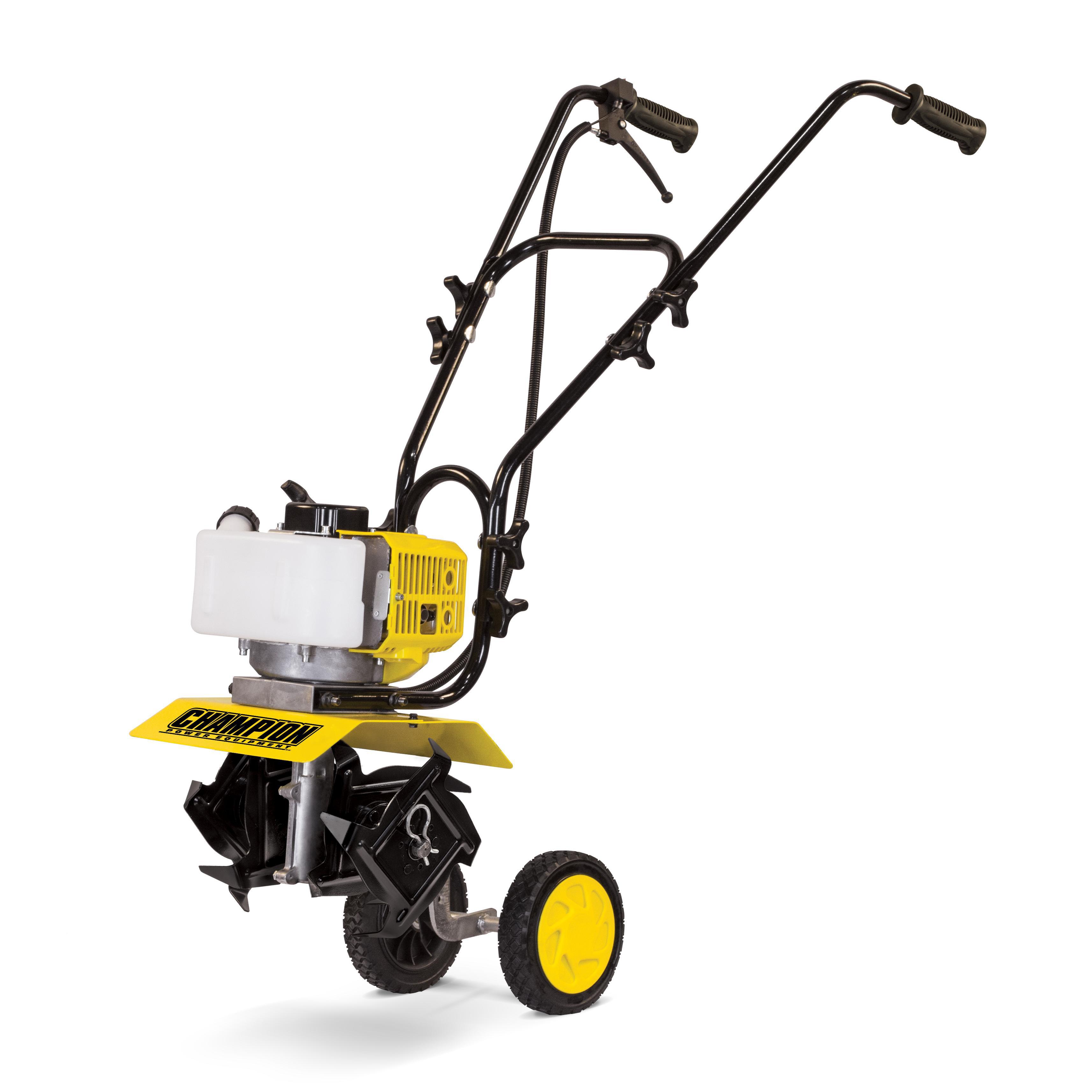 Best Gas Tillers - Champion 43cc 2-Stroke Portable Gas Garden Tiller Cultivator Review