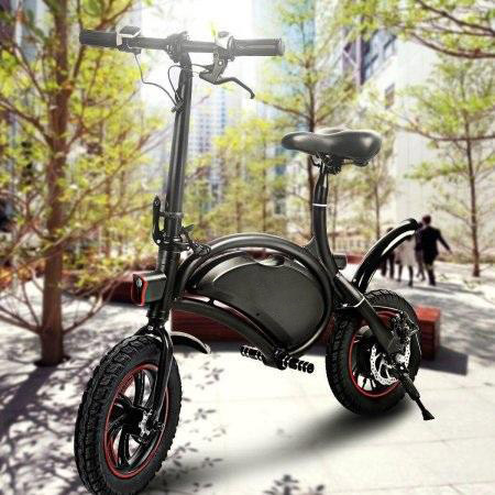 ANCHEER 12''APP Control Folding Electric Bike Bluetooth System 350W 36V 6AH Lithium Battery Smart Electric Mountain Bicycle With Automatic Headlight