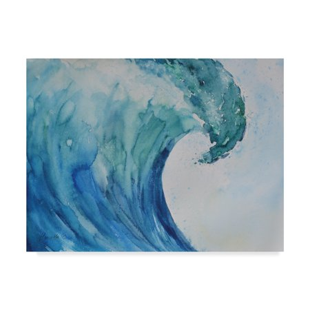 Trademark Fine Art 'Wave Nautical 2' Canvas Art by Marietta Cohen Art And Design
