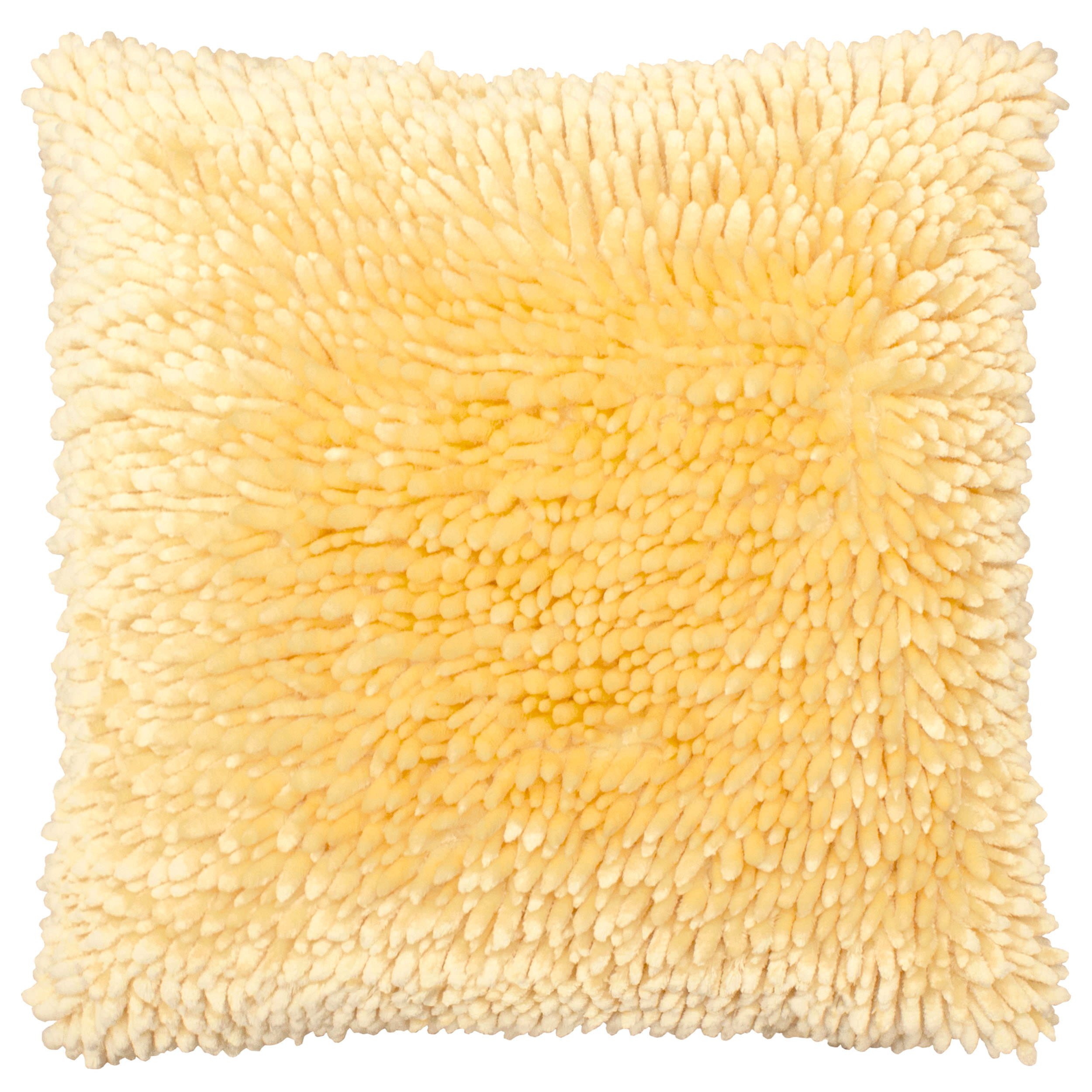 Butter Chenille 18 in. x 18 in. Decorative Pillow, Ivory