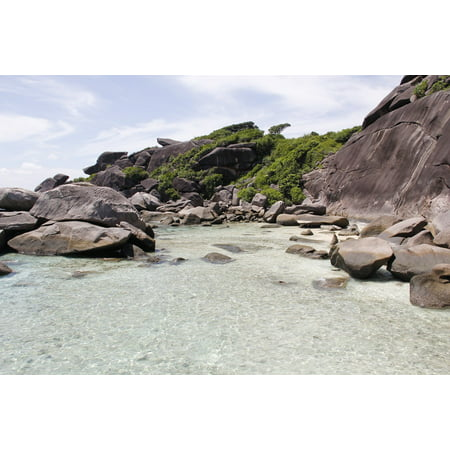 Canvas Print Water Beach Sea Rock Thailand Summer Booked Stretched Canvas 10 x 14