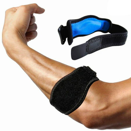 Adjustable Elbow Support, Tennis Golfers Elbow Brace Wrap Arm Support Strap (Best Way To Heal Tennis Elbow)