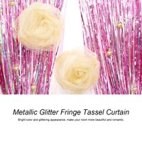 2/3M Shiny Tinsel Foil Fringe Window Curtain Wedding Party Backdrop Decorate