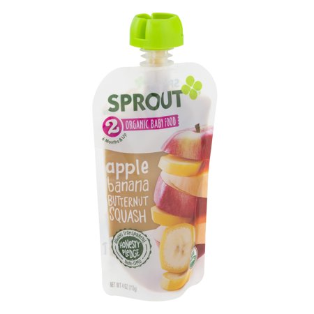 Sprout Organic Baby Food - Apple, Banana And Butternut Squash - Case Of 10 - 4 Oz.