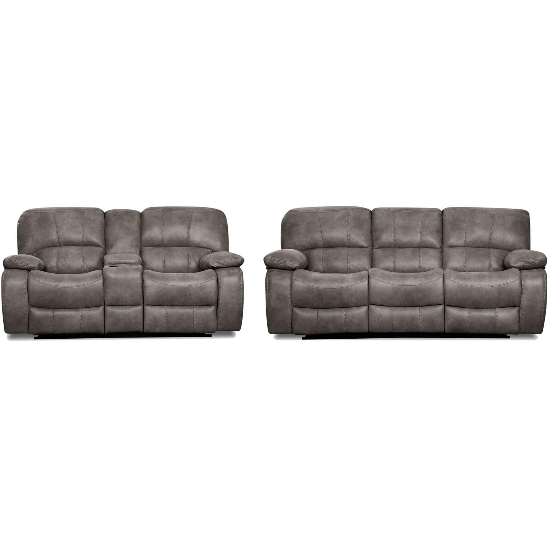 Cambridge Garrison Two Piece Living Set Sofa Loveseat Walmart Com