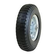 "Marathon 2.50-4"" Narrow, 3"" Hub Flat Free Hand Truck Replacement Utility Tire"