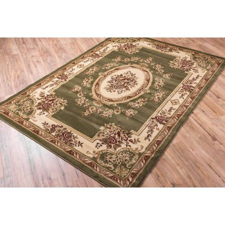 Well Woven Well Woven Vanguard French Aubusson European Floral Medallion Formal Classic Thick Plush Luxury Area Rug  53 X 73