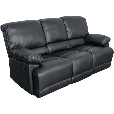 Lea Bonded Leather Reclining Sofa