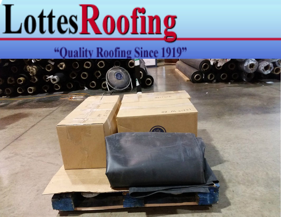 10 x 40 45 Mil Black EPDM rubber roofing