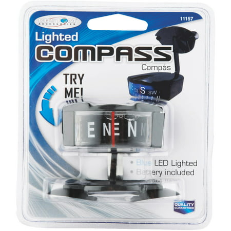 Digital Auto Compass (Car Compass, Lighted, Suction)
