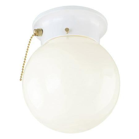 Design House 510040 1-Light Flush Mount Ceiling Light, White