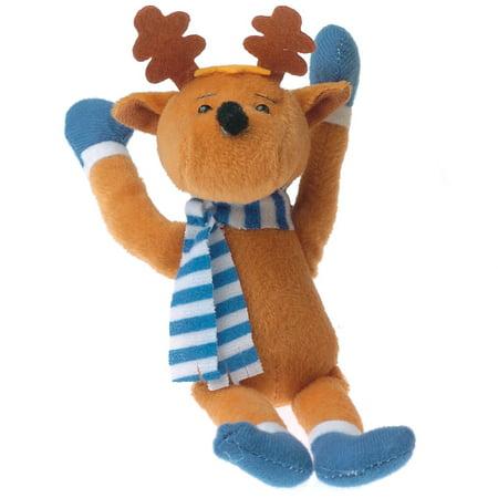 Christmas Stuffed Winter Moose Reindeer w Scarf 7.5