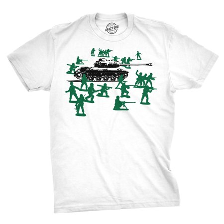 Little Green Army Men T Shirt Vintage Funny Logo Shirts Military Novelty Toy - Army Logo Shirt