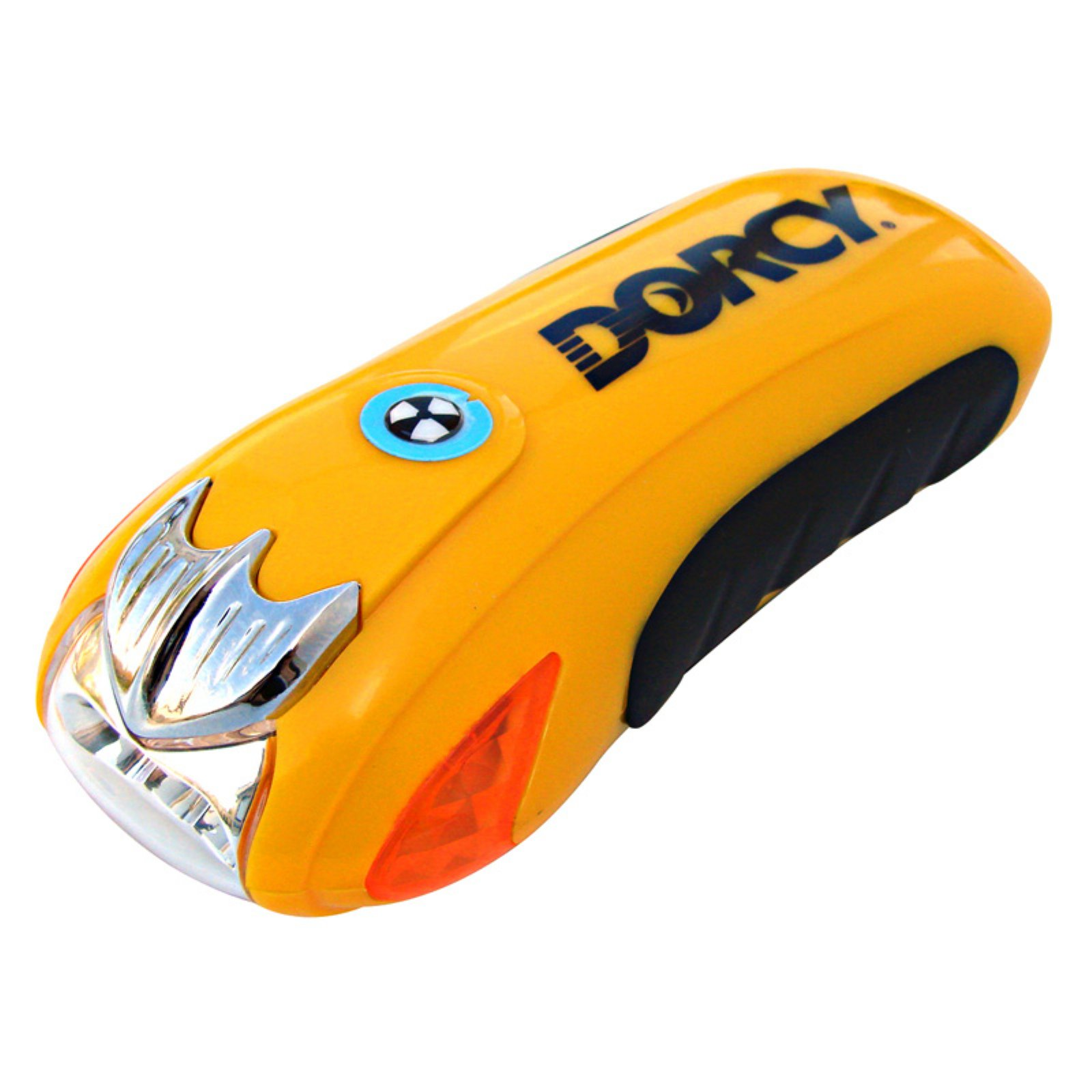 Dorcy 7.7-Lumen Dynamo Rechargeable LED Emergency Survival Flashlight with Hand Crank and Flashing Mode, Yellow (41-4272)