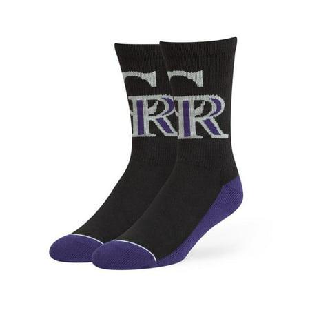 Fan Favorites B-ARENA27PBE-BK Chaussettes chaussettes MLB Colorado Rockies Arena, Noir - image 1 de 1
