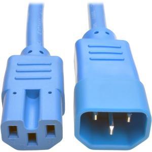 Tripp Lite 2ft Heavy-Duty Computer Power Cord (IEC-320-C14 to IEC-320-C15), Blue