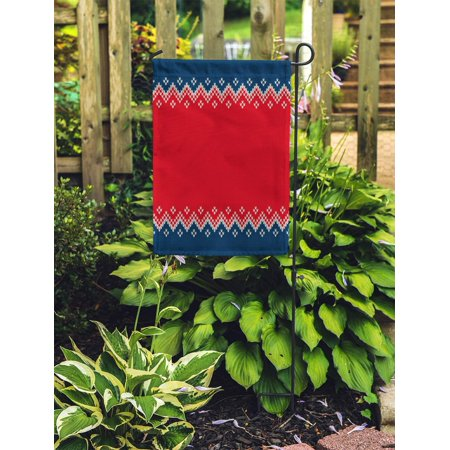 NUDECOR Christmas and New Year Knitted Place Knitting Sweater Ornamental Wool Garden Flag Decorative Flag House Banner 28x40 inch - image 2 de 2